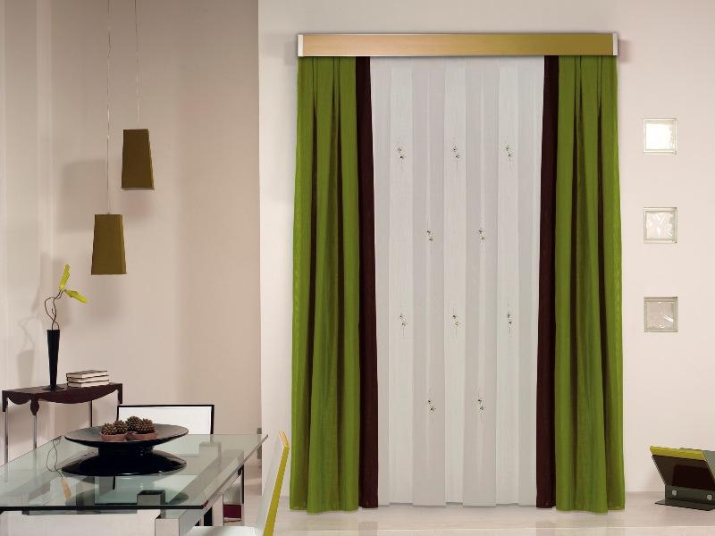 cortinas color greenery