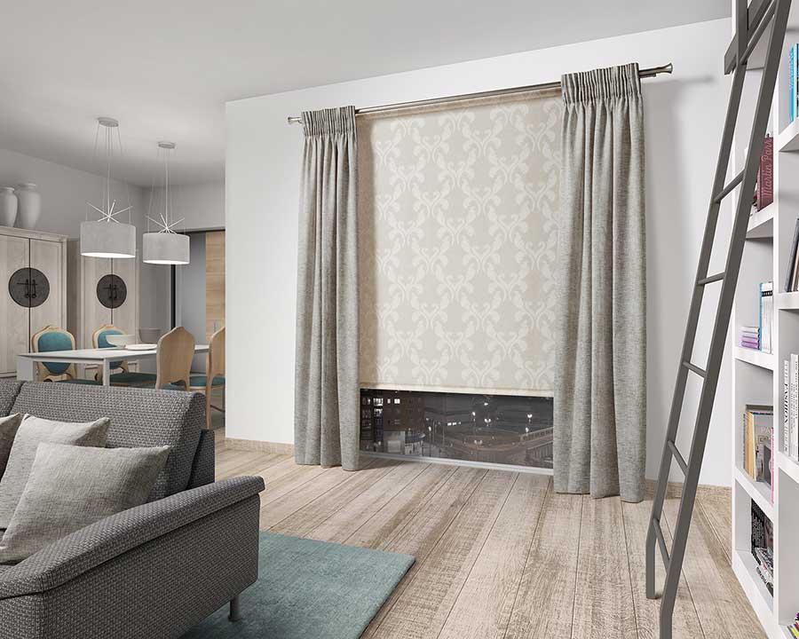 Estores para salones modernos finest estores salon modernos tipos de cortinas para salon - Cortinas baratas zaragoza ...