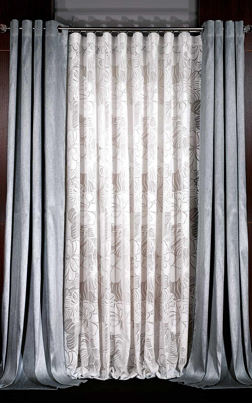 Trabajos realizados cortinajes com n for Cortinas gris plata