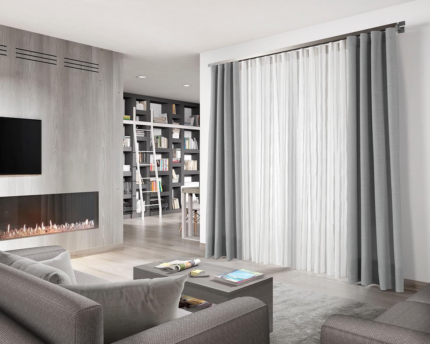 Cortinas de sal n en zaragoza cortinajes com n - Cortinas salon modernas ...