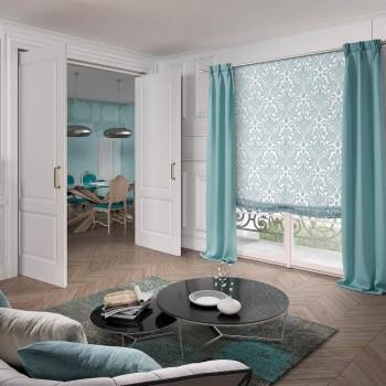 combinacion estores cortinas