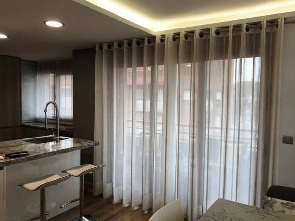 cortinas semitransparentes