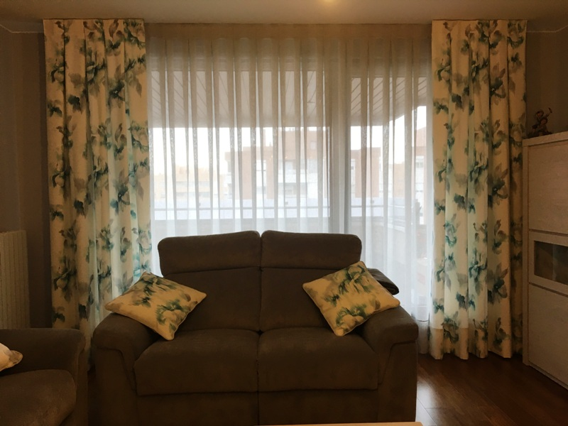 cortinas semitransparentes salon