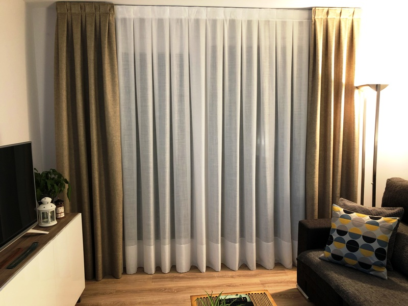 cortina poliester lino algodon