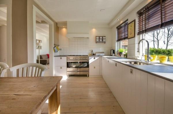 decoracion cocina amplia luminosa